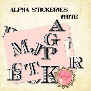 Alpha Stickeries White