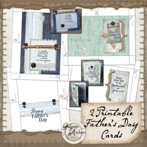Father's Day Cards Set 2 by Karen Aicken