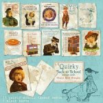 Quirky Back to School Antique Cards