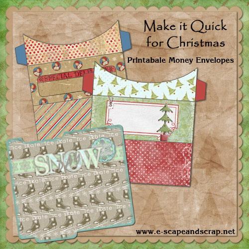 Make It Quick for Christmas—Printable Money Envelopes FREEbie ...
