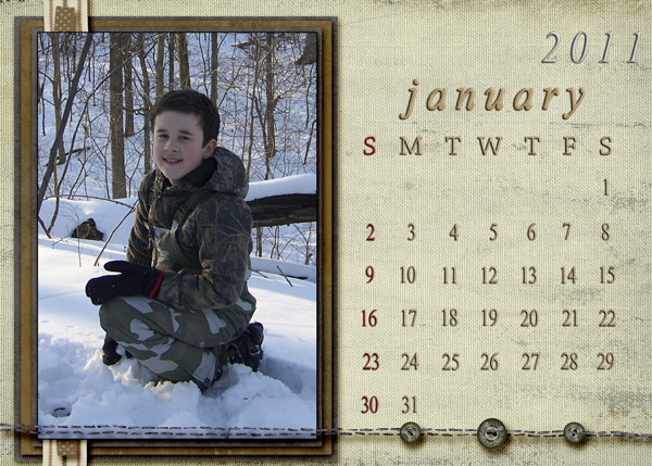 Jan 2011 Calendar by JDsMom