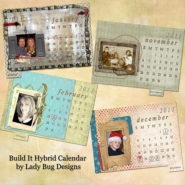 Hybrid Calendar Pages by Coppercurls