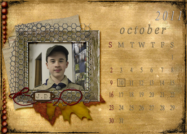 October 2011 Calendar by JDsMom